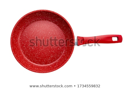Red frying pan Stock photo © grafvision