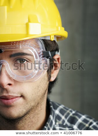 construction worker staring into space stock photo © photography33
