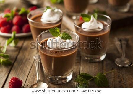 french chocolate mousse Stock photo © M-studio