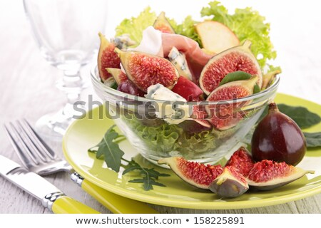 サラダ · プロシュート · ディナー · 新鮮な · ハム - ストックフォト © m-studio
