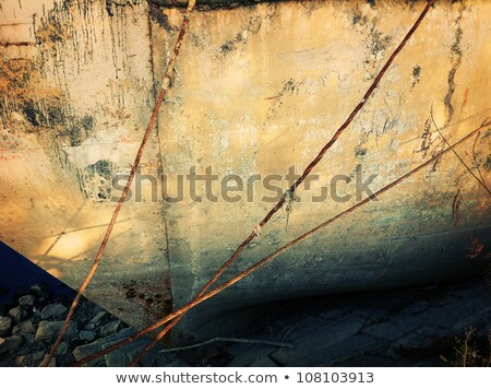 Boat bound by rope at rough shore Stock photo © vetdoctor