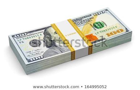 uno · cien · dólar · billetes · dólares · blanco - foto stock © feverpitch