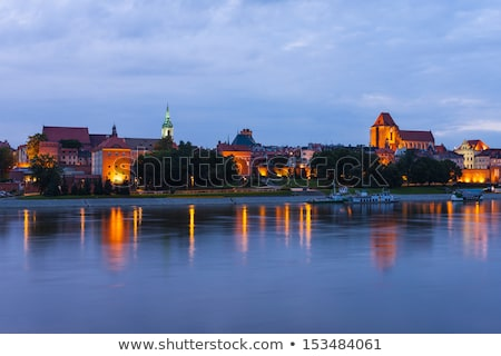 old town of torun at night kuyavia pomerania poland stock photo © phbcz