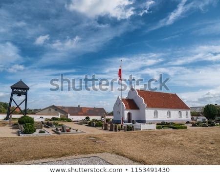 templom · sziget · tenger · park · Dánia · díszlet - stock fotó © faabi