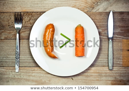 Güç vitaminler matematiksel sanat imzalamak akşam yemeği Stok fotoğraf © artlens