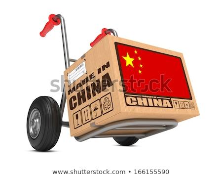 China hand vrachtwagen vlag leuze Stockfoto © tashatuvango