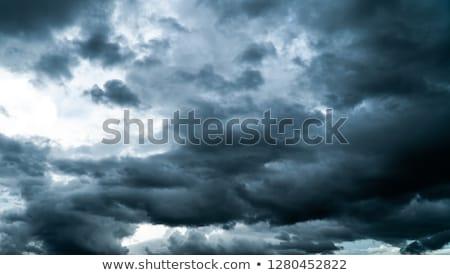 Nehéz viharfelhők hideg tél eső égbolt Stock fotó © stevanovicigor