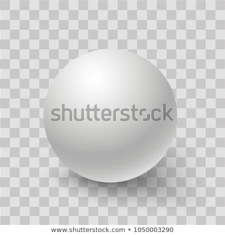 Sferze wektora metaliczny błyszczący piłka biały Zdjęcia stock © kovacevic