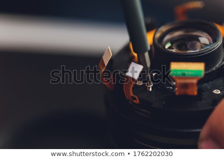 Stock photo: electronics equipment assembly workplace