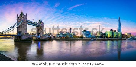 Londres · rascacielos · anochecer · río · thames · Inglaterra - foto stock © chrisdorney