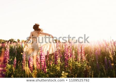 美しい 花嫁 フィールド 花 屋外 ストックフォト © ifeelstock