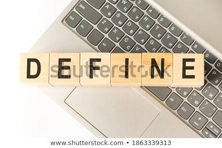 Ganador ganar texto diccionario definición blanco negro Foto stock © jenbray