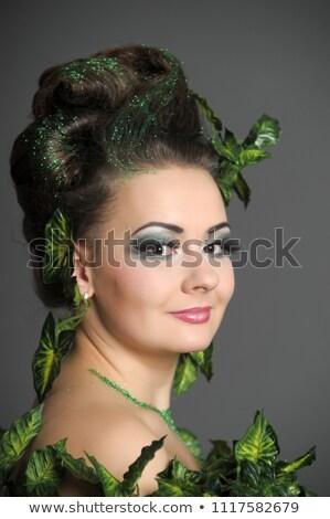 Güzel İrlandalı kız yaratıcı makyaj doku Stok fotoğraf © Nejron