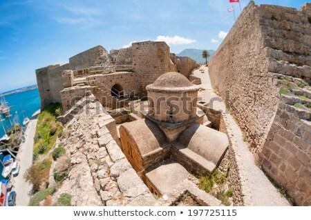 kyrenia harbour and medieval castle cyprus stock photo © kirill_m