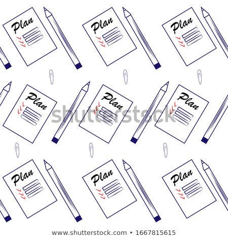 Seamless pattern with office stationery, paper clips, thumbtacks, clamps Stock photo © elenapro