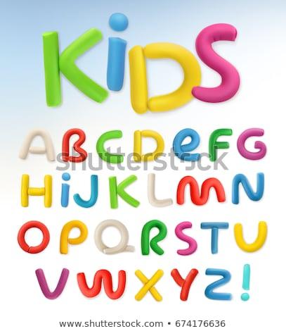 Alphabet baby plastic letters set Stock photo © Witthaya