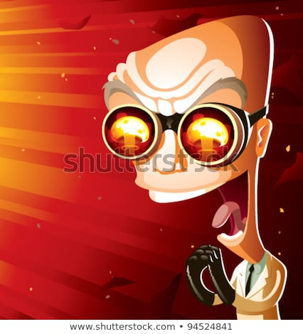 Vector image of the evil mad man Stock photo © Amplion