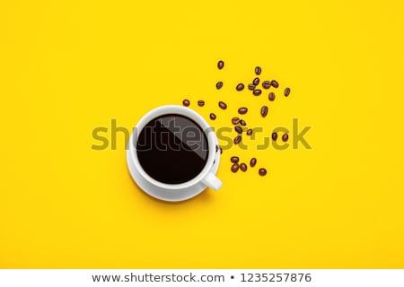 Foto stock: Xícaras · de · café · abstrato · dois · vazio · grunge