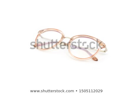 Negro plástico marco gafas de moda blanco Foto stock © dezign56