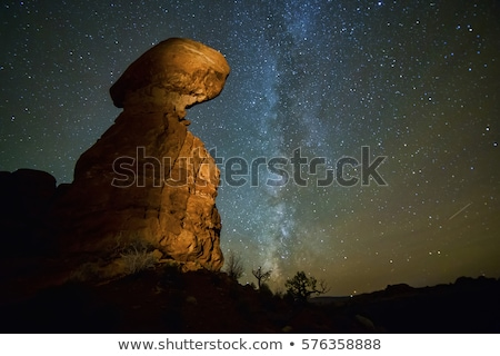 balanced rock arches national park stock photo © fotogal