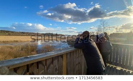 Observation des oiseaux tour grec eau paysage montagne Photo stock © igabriela