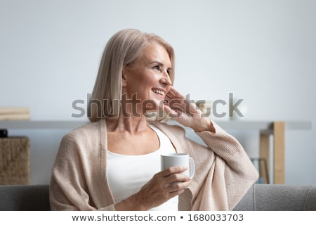 Happy elderly woman Stock photo © iko