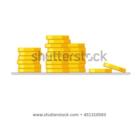 Winnings sign at coin piles Stock photo © olandsfokus