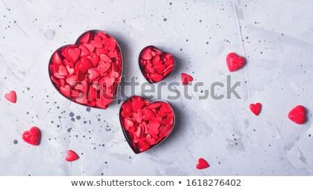 Valentin nap cukrászda étel alma labda cukorka Stock fotó © M-studio