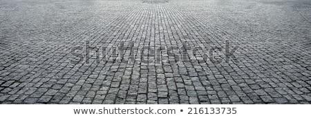 estrada · cinza · pedras · velho · grama · verde - foto stock © meinzahn