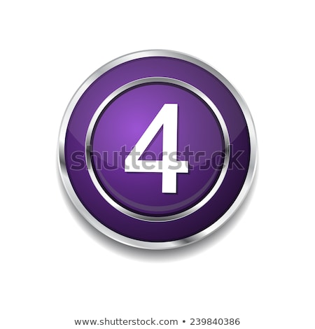 4 Number Circular Vector Purple Web Icon Button Stock photo © rizwanali3d