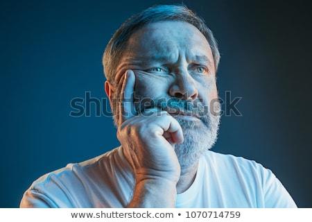 悲しい 男 を見て スポーツ ホーム 幸福 ストックフォト © dolgachov