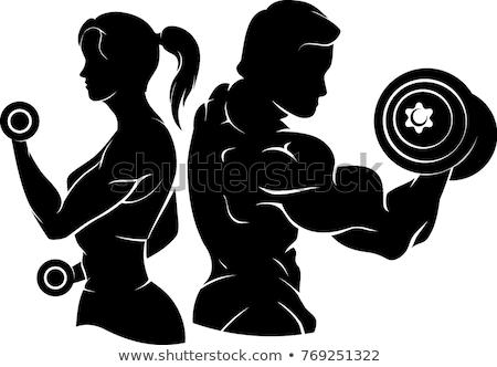 Imagem vista lateral caber mulher Foto stock © wavebreak_media
