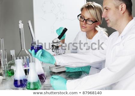 Chemicznych wody medycznych szkła muzyka nauki Zdjęcia stock © OleksandrO
