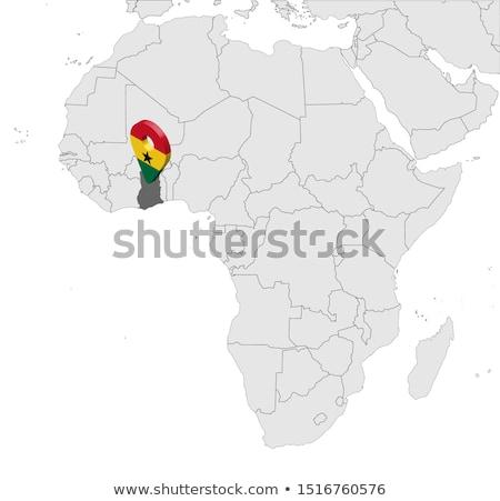 Гана · политический · карта · важный - Сток-фото © tkacchuk