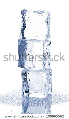heap of three ice cubes stock photo © shawnhempel