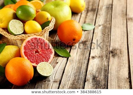 Frischen voll süß orange Früchte rustikal braun Stock foto © stevanovicigor