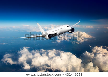 Burgerlijk vliegtuigen gestileerde luchtvaart moderne jet Stockfoto © tracer