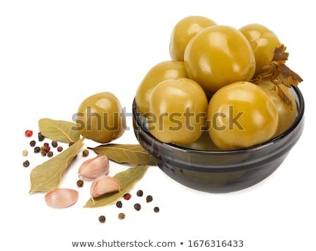 marinated spicy green tomatoes.  Stock photo © zoryanchik