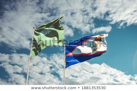 Arábia Saudita Samoa Americana bandeiras quebra-cabeça isolado branco Foto stock © Istanbul2009