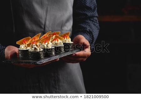 mano · rotolare · alimentare · salute · cena · japanese - foto d'archivio © logoff