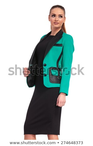 woman arranging her blonde hair while looking at the camera Stock photo © feedough