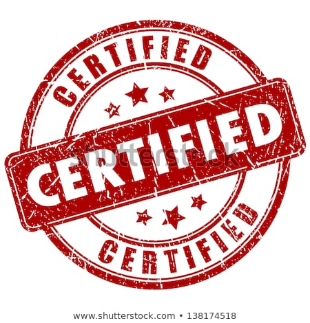 Certificado carimbo isolado branco segurança comunicação Foto stock © fuzzbones0