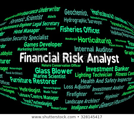 risk analyst represents analysers position and analysts stock photo © stuartmiles