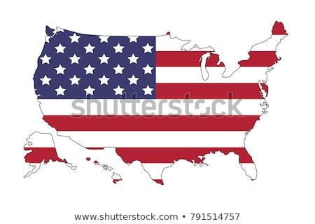 Kansas bayraklar mavi gökyüzü gökyüzü mavi ABD Stok fotoğraf © benkrut