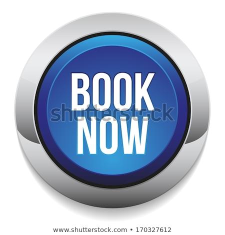 book now blue vector icon design stock photo © rizwanali3d