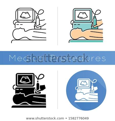 ultrasonography icon flat design stock photo © wad