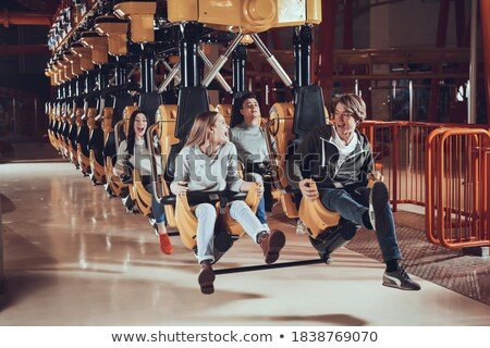 young roller couple sit in park stock photo © paha_l