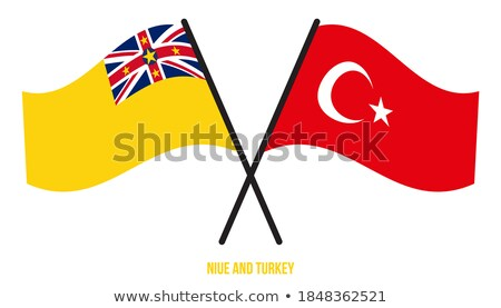Turkey and Niue Flags Stock photo © Istanbul2009