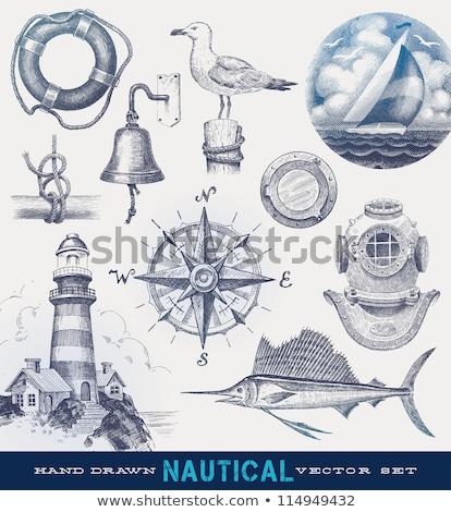 Hand drawn ship helm Stock photo © netkov1