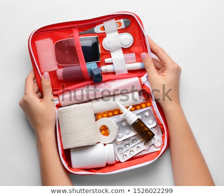 woman hand with glucometer stock photo © andreypopov
